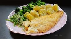 Gebratener Seebarsch - filetiert und zubereitet