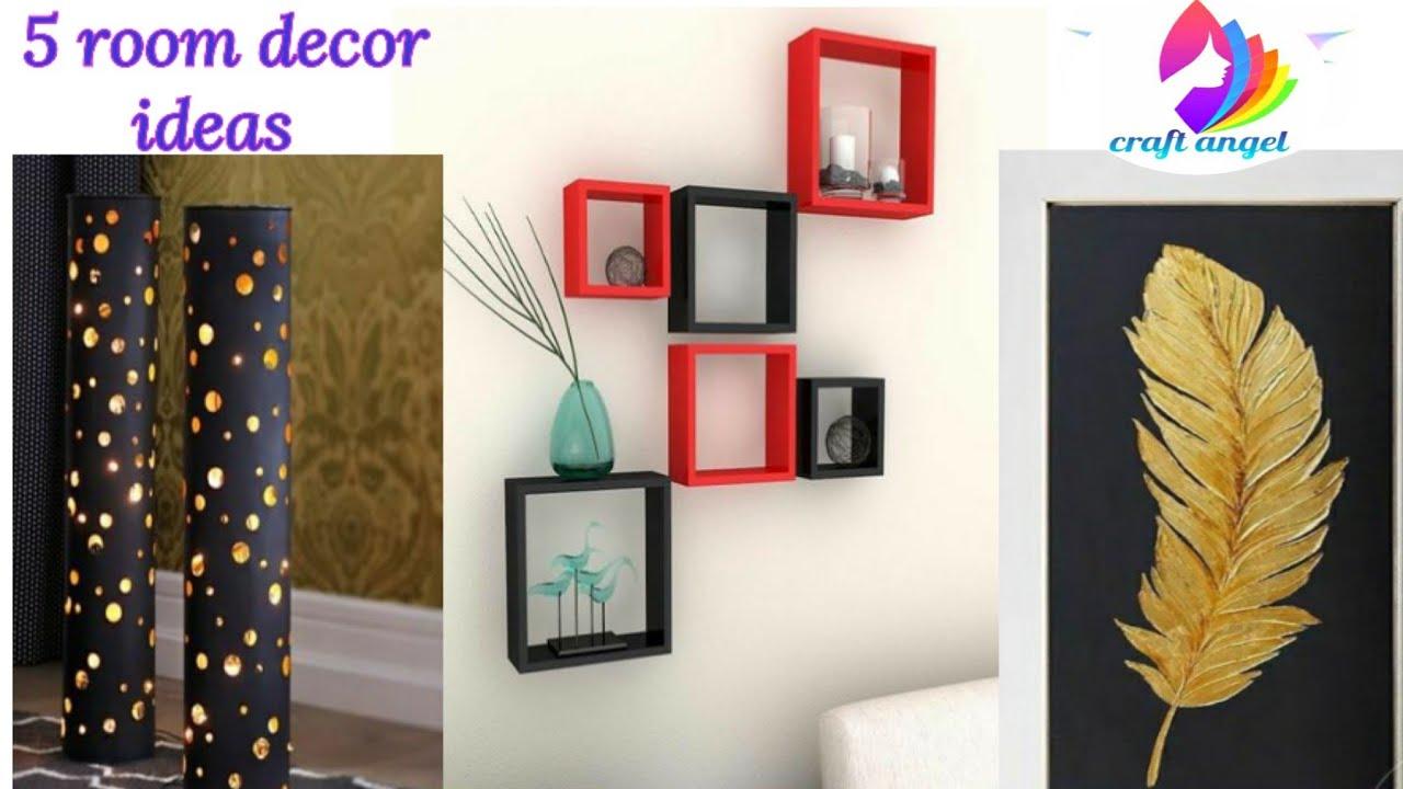 5 home decoration ideas   art and craft   diy crafts   5 ...