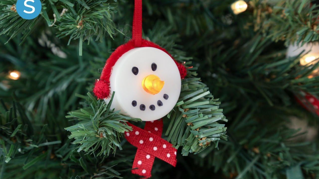 Tea Light Snowmen Ornament DIY Holiday Craft | Simplemost   YouTube