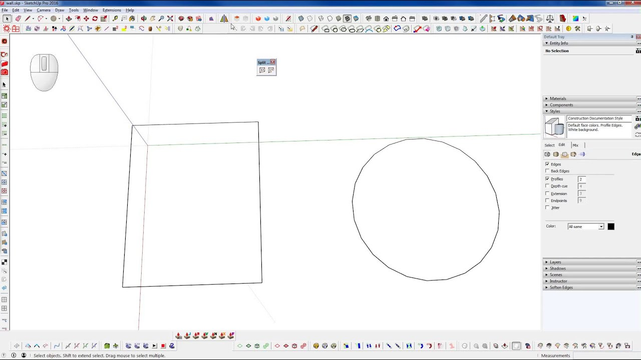 how to make a donut on sketchup