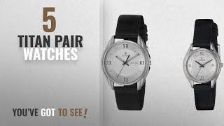 Top 10 Titan Pair Watches [2018]: Titan Bandhan Analog Silver Dial Couple's Watch - NE15782489SL03