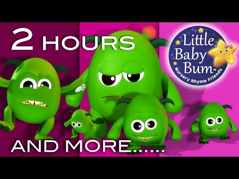 Five Little Monsters | And More Nursery Rhymes | 2 Hours Compilation From LittleBabyBum!