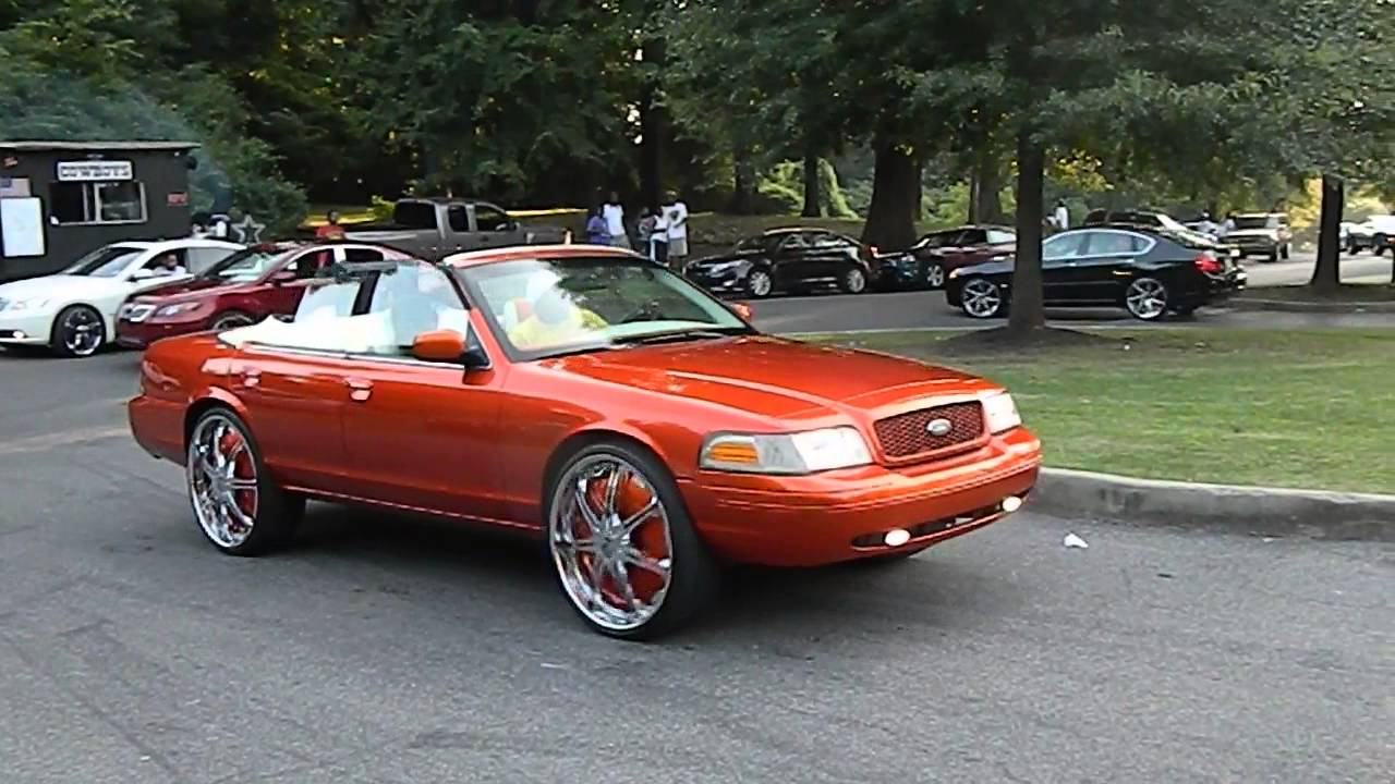 Convertible Ford Crown Vic On Dub Floaters
