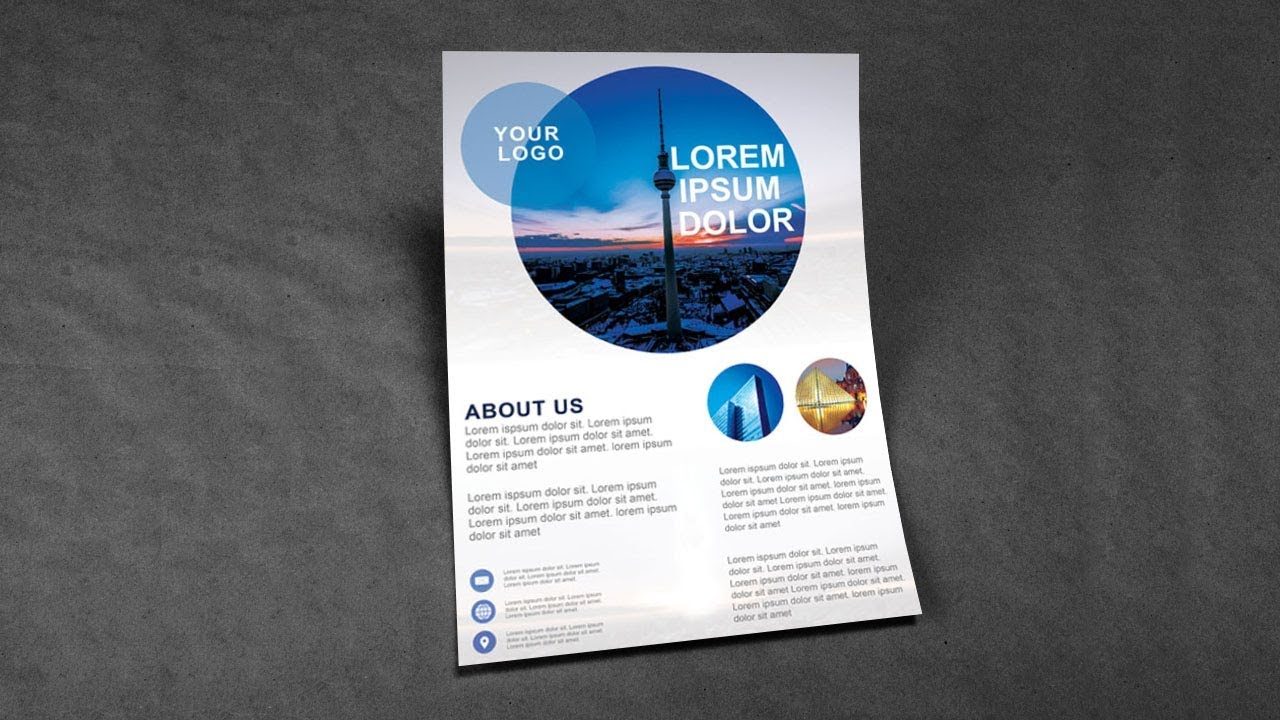 Photoshop Tutorial Architecture Flyer Template Youtube