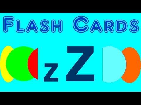 Flash Cards - english words starting with the letter Z