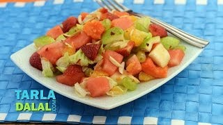Fruit And Lettuce Salad (vitamin C And Fibre Rich) By Tarla Dalal