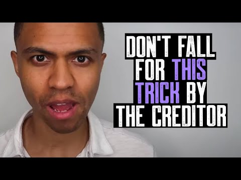 DON'T FALL FOR THIS TRICK BY THE CREDITOR || THEY DON'T WANT YOU TO KNOW || DON'T FALL FOR THIS TRAP