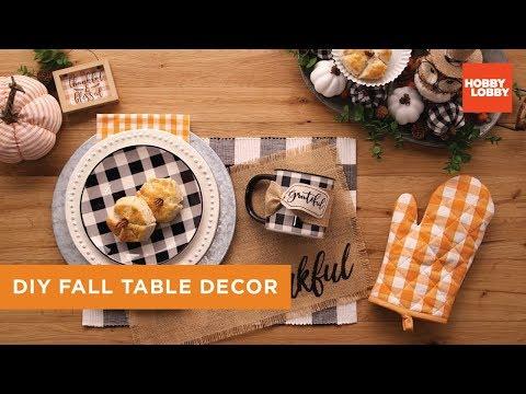 DIY Fall Table Decor by Hobby Lobby®