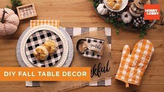 Diy Fall Table Decor Hobby Lobby Youtube