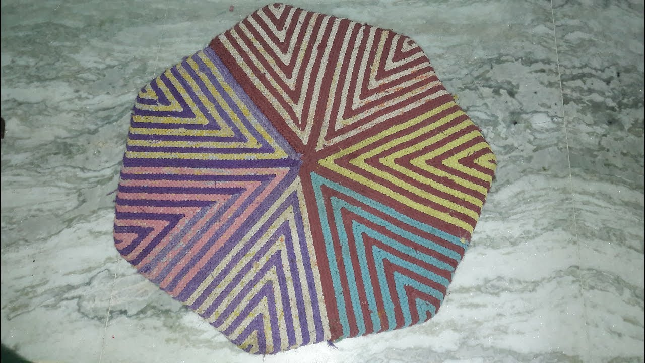 How To Make Doormat From Old Saree And Waste Cloth