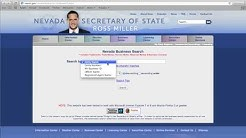 Nevada Secretary of State Business Search