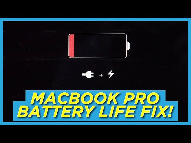 Fix your MacBook Pro Battery Drain