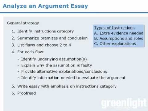 gre analytical writing introduction to the argument essay  gre analytical writing introduction to the argument essay