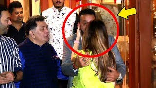 Sanjay Dutt's FUNNY Awkward Moment With Hrithik Roshan's Wife Suzanne Khan At Diwali Party 2017