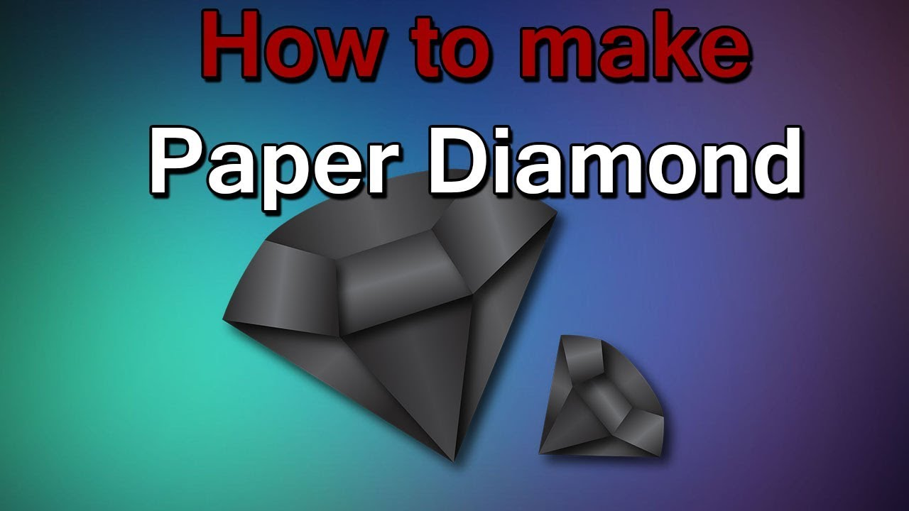 Amazing things made out of paper 4 diy paper diamond for How to make something with newspaper