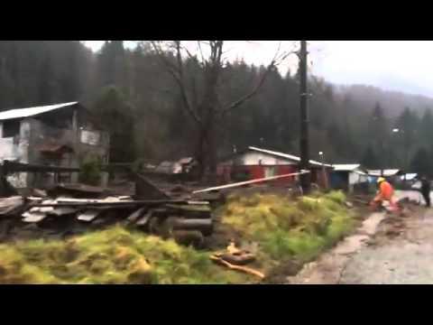 #Panguipulli: Lluvias provocaron gigantesco Alud en el pueblo de Neltume, NO HUBO LESIONADOS
