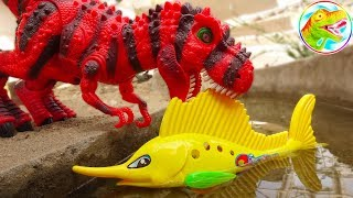 🐉 Dinosaur tycoon and fish in the lake - Toy A978P ToyTV 🐉