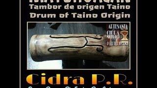 TAINO WOOD DRUMS MAYOHUACAN THE TAINO MUSIC