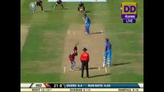 Highlights of India vs WI 2nd ODI: 1st innings
