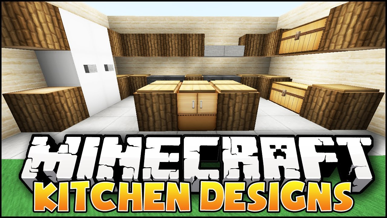 Kitchen Design Video minecraft: kitchen designs & ideas - youtube