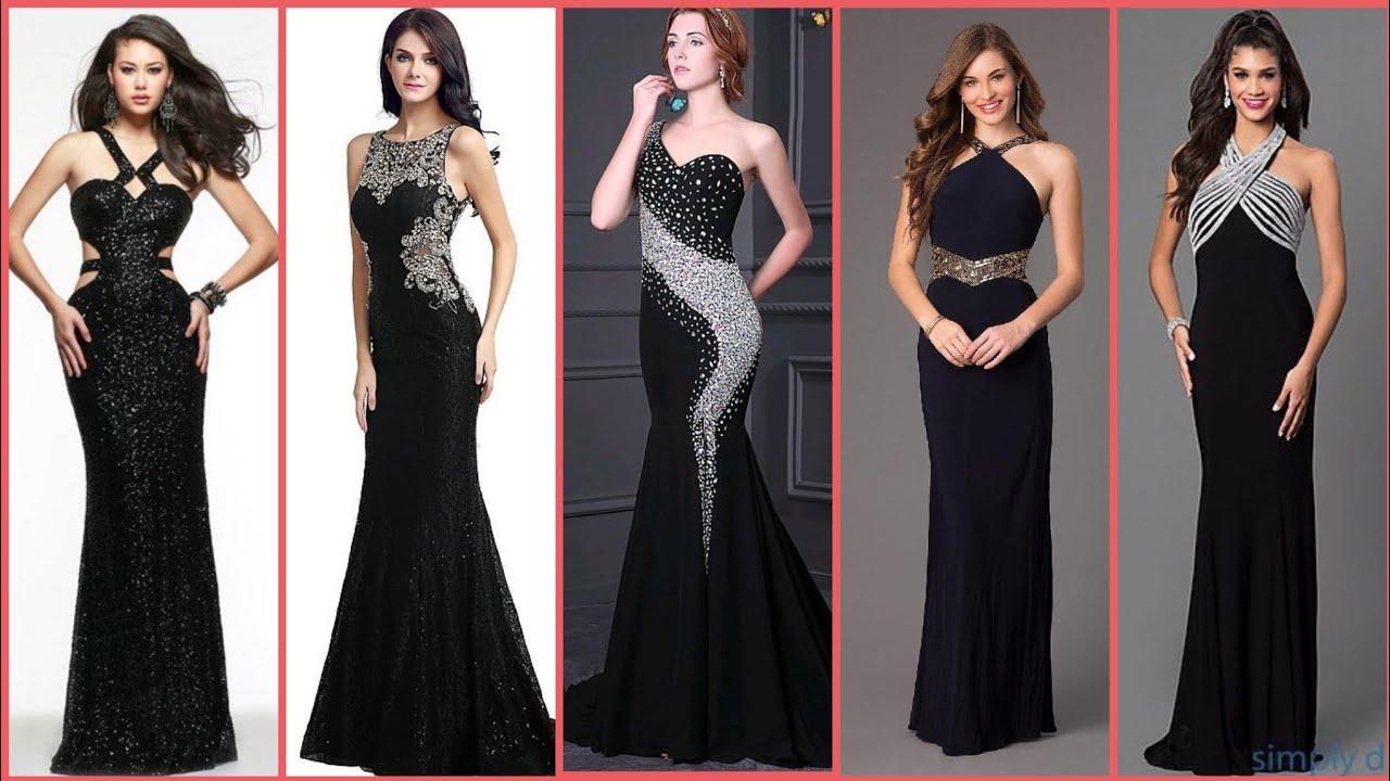 Black Elegant Evening Wear