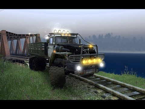 Spintires Bulgarian CO-OP Multiplayer - Карта Rail Road Builder v.4.0