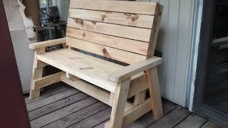 Sitting bench made with 2/12's