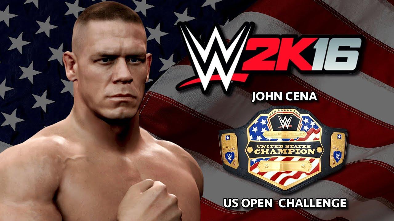 wwe 2k16 john cena u.s open challenge teaser trailer (concept