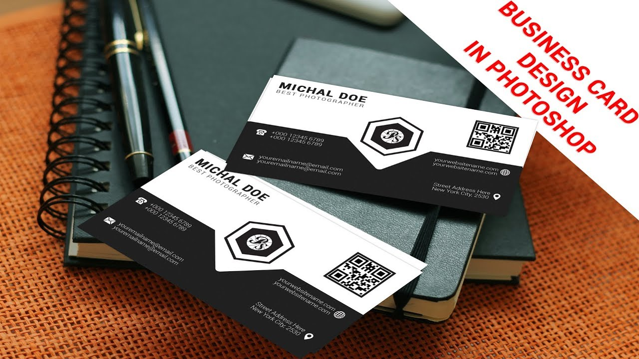 Business card design   Photoshop CC   How to make a Professional Business Card in Photoshop