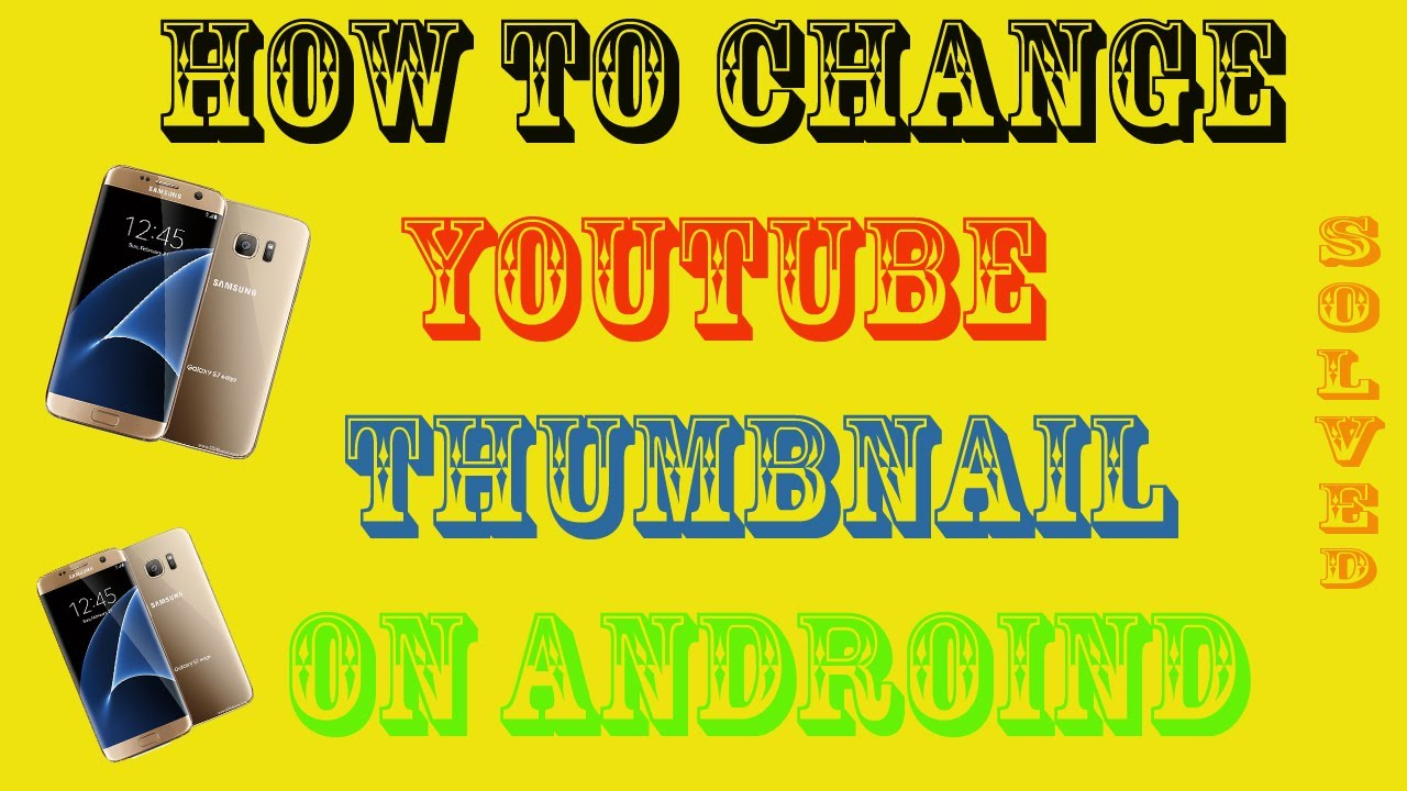 youtube how to change video thumbnail