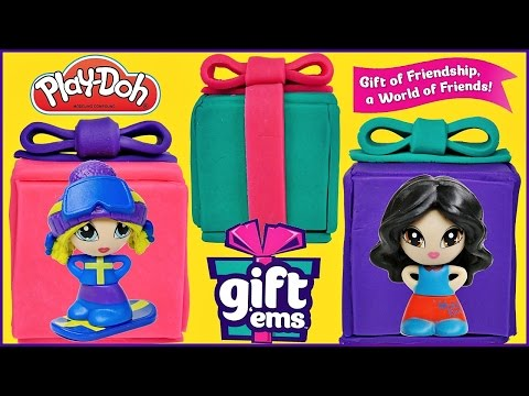 PLAY DOH SURPRISE GIFTS with Gift Ems 3 Packs Mystery Blind Boxes