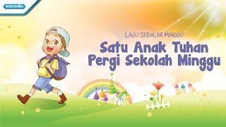 Satu Anak Tuhan Pergi Sekolah Minggu - Maranatha Kids  (Video)