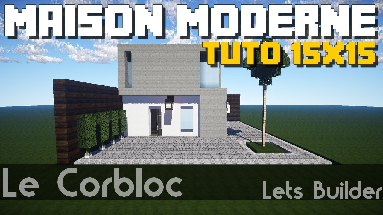 Minecraft tuto maison moderne 15x15 youtube for Maison moderne minecraft tuto