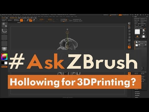 "#AskZBrush - ""How can I hollow out my model for 3D Printing using ZBrush?"""