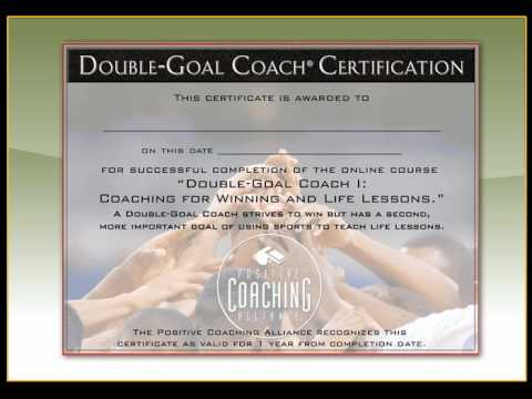 PCA\'s Double-Goal Coach Online Course Demo - YouTube