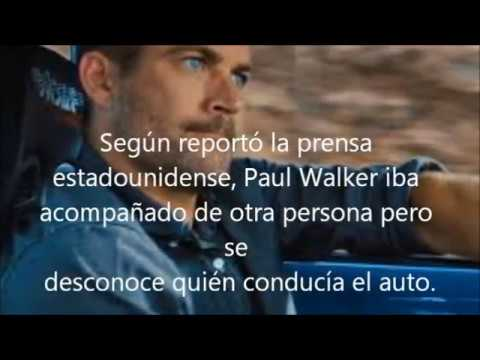 Así falleció Paul Walker 1973  2013