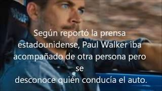 Así falleció Paul Walker 1973 - 2013