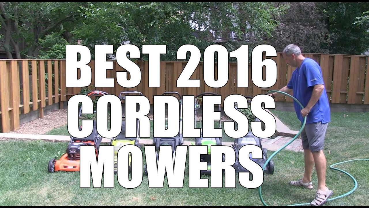 best cordless mowers of 2016 top 5 youtube