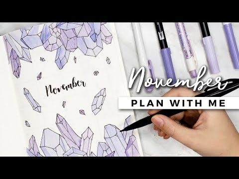PLAN WITH ME | November 2017 Bullet Journal Setup