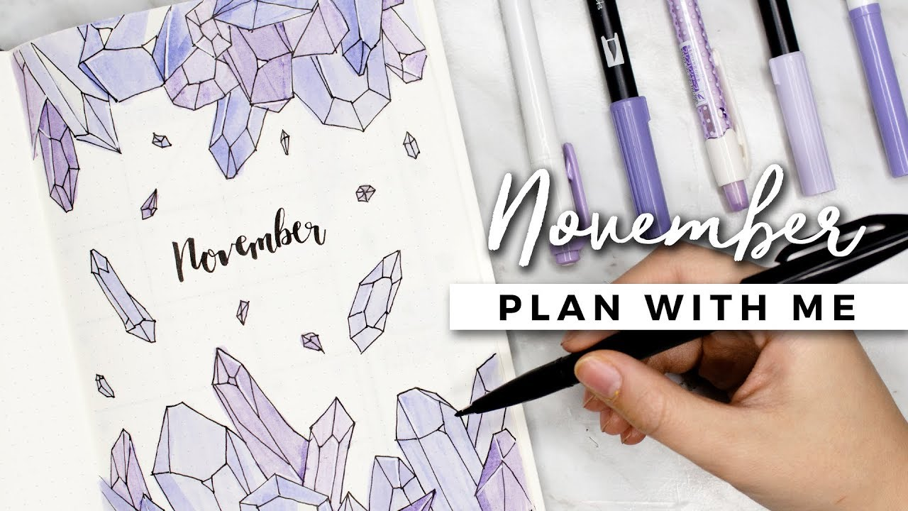 Plan with me november 2017 bullet journal setup download for Craft fairs near me november 2017