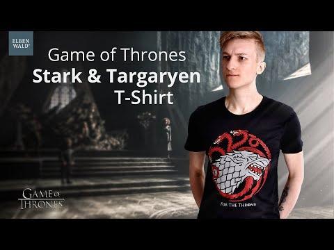 Game Of Thrones: Stark & Targaryen For The Throne T-Shirt