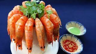Món Ăn Ngon - TÔM LUỘC NƯỚC DỪA, Tôm Hấp Trái Dừa Tươi Ngon