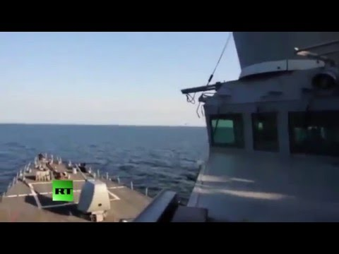 Russian fighters greet US Navy destroyer in the Baltic Sea