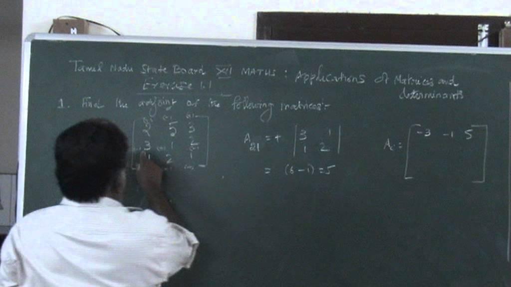 Matriculation book 12th maths solution