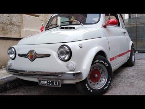 Fiat 500 D Epoca Abarth Scrittura Ruote E Colorato Il Serbatoio