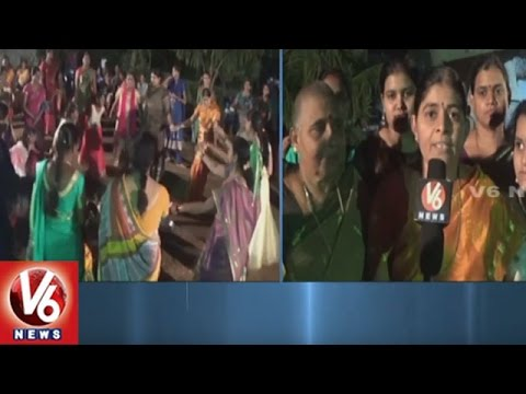 Saddula Bathukamma Celebrations At Khammam District | V6 News