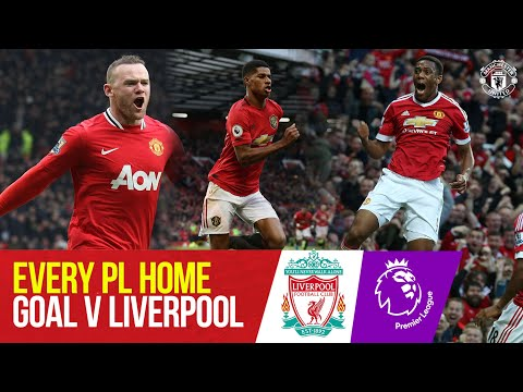 Every Home Premier League Goal v Liverpool | Ronaldo, Rooney, Solskjaer, Fernandes |