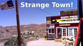 Weird Spooky Town Near Area 51 - Semi Abandoned Ghost Town In Nevada Desert - USA Travel