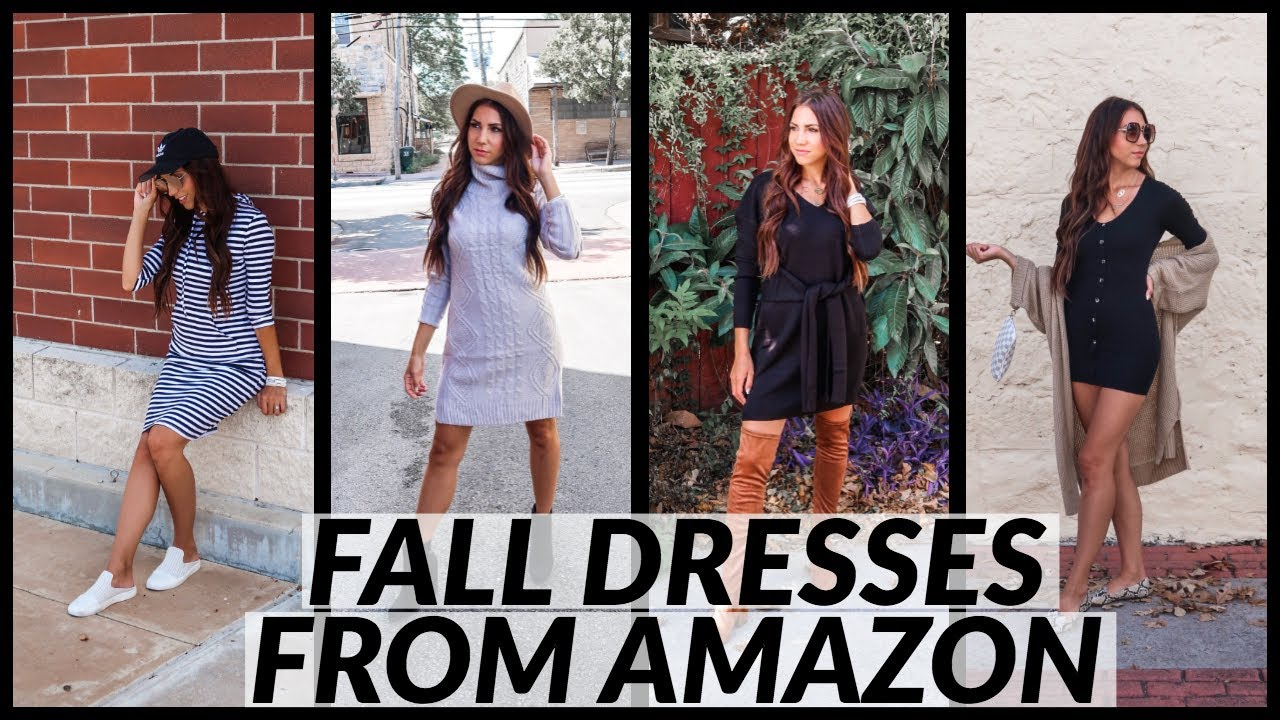 [VIDEO] - FALL OUTFIT IDEAS   5 FALL DRESSES FROM AMAZON 4