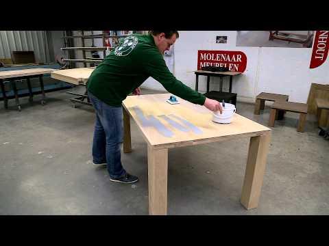 Rubio Monocoat Oil Plus 2C application on furniture (manual)